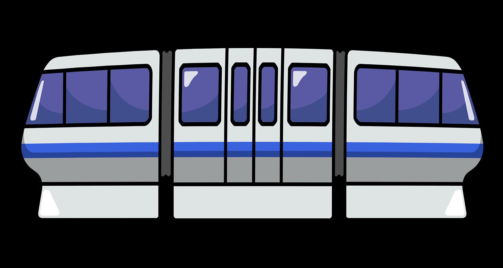 1600x854 Free Monorail Clip Art