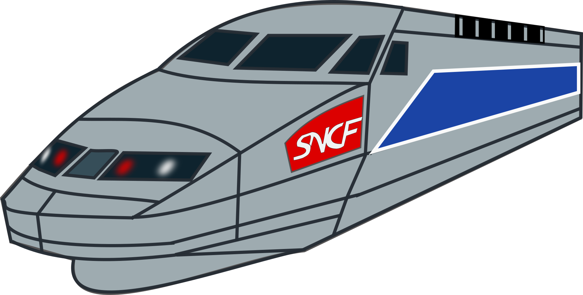 2000x1013 Free Bullet Train Clipart Clipart And Vector Image