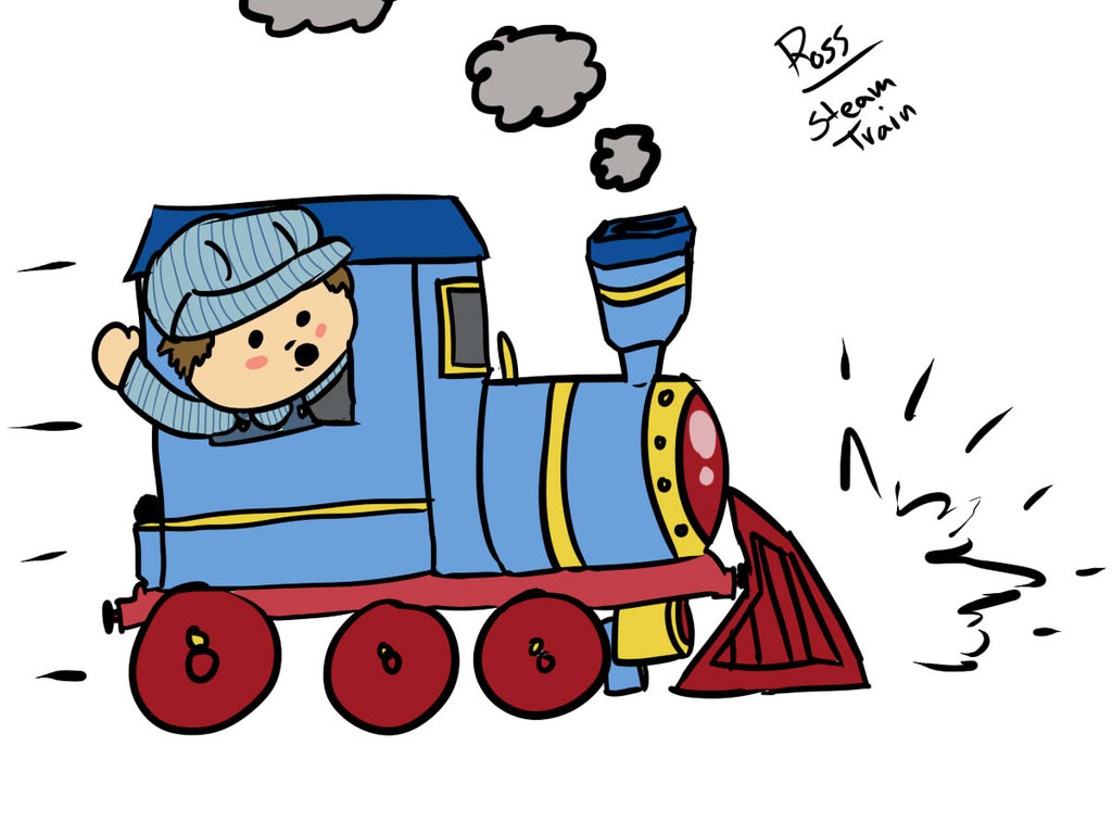 1024x768 Train Cartoon
