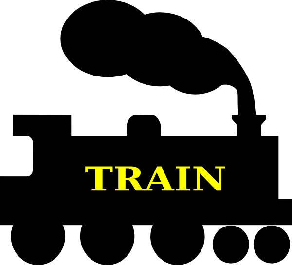 600x544 Train Silhouette Clip Art