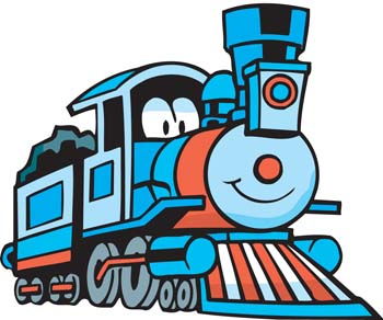 350x292 Cartoon Train Clipart