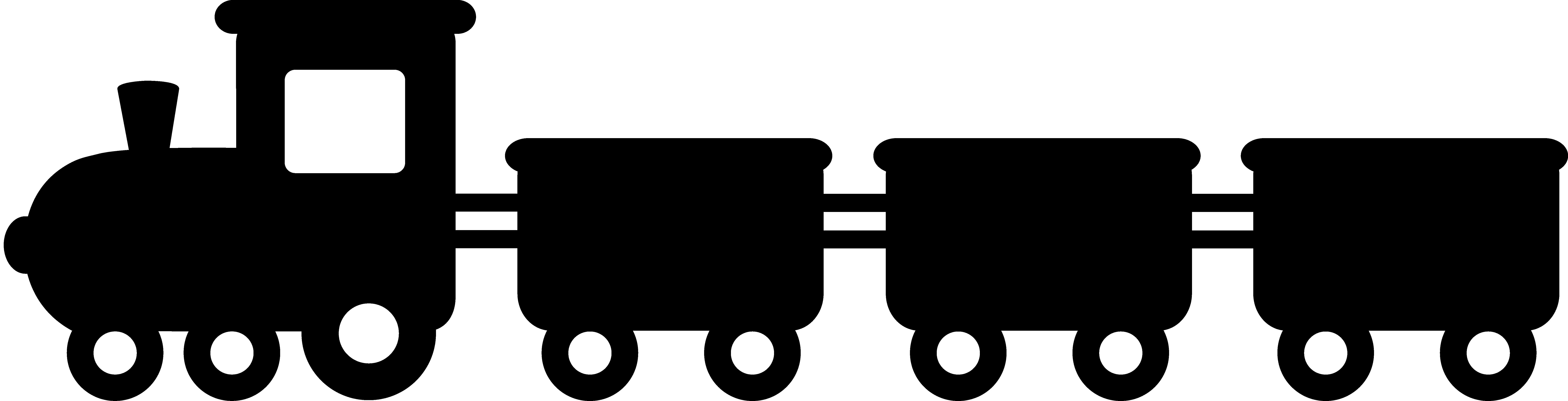 8883x2276 Black Train Silhouette