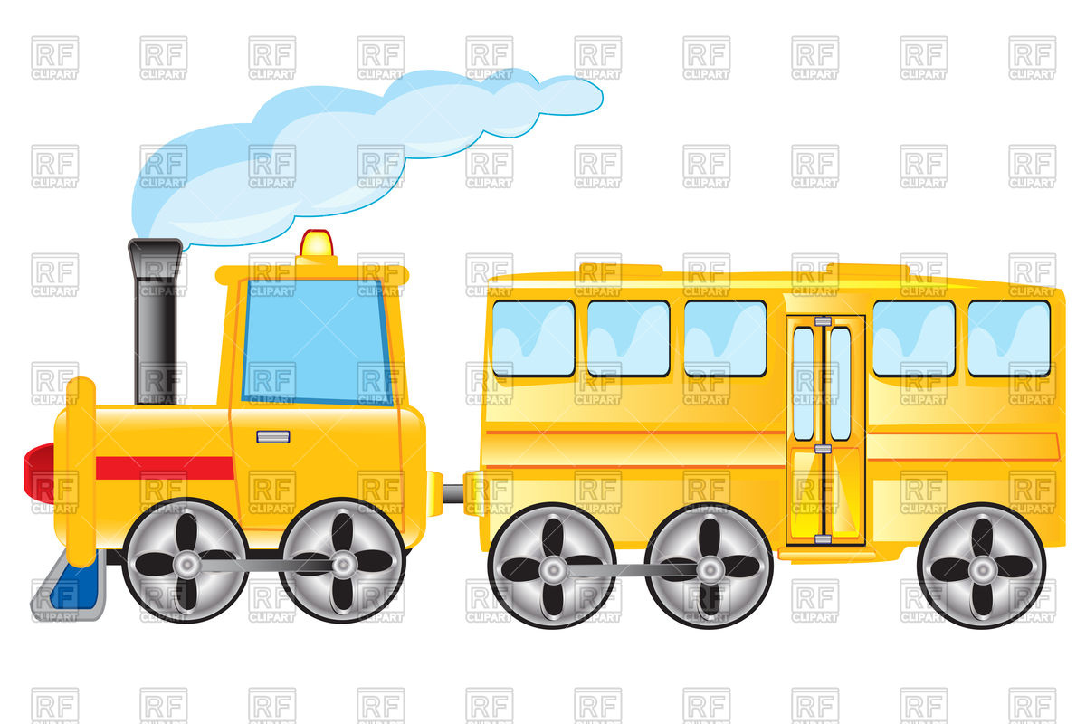 1200x800 Yellow Train Royalty Free Vector Clip Art Image