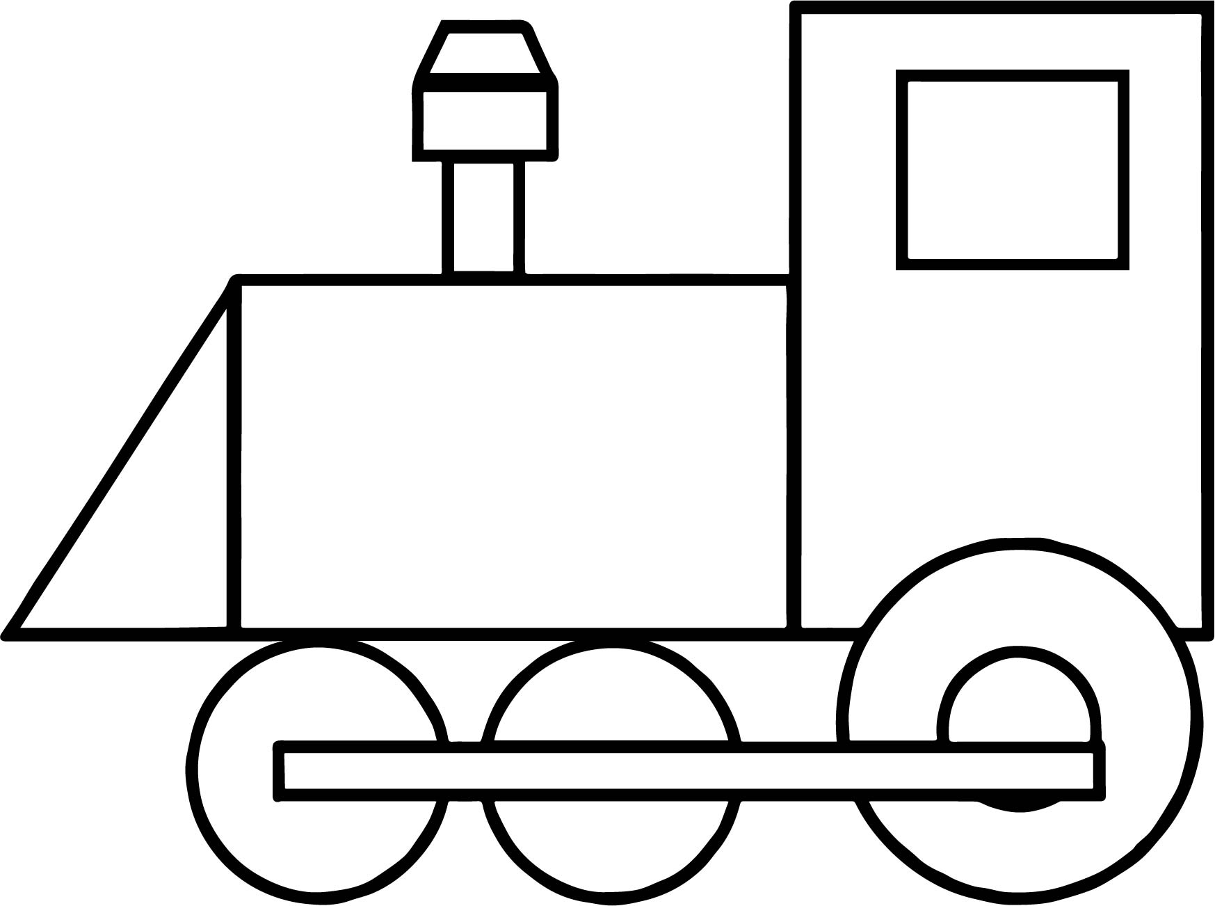 1747x1302 Outline Train Coloring Page Wecoloringpage