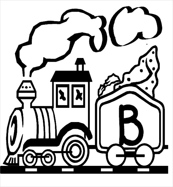 600x645 Train Coloring Pages