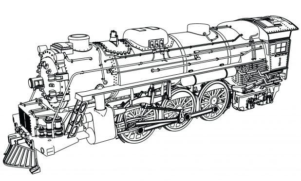 618x373 Train Coloring Pages For Kids 30 Excellent Thomas The Color