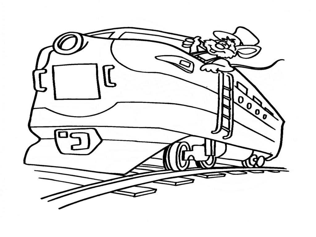 1024x768 Train Coloring Pages For Kids Fitfru Style Printable Train