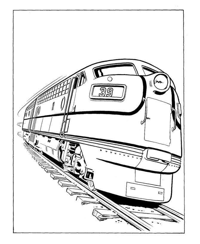 670x820 Train Coloring Pages For Free Download