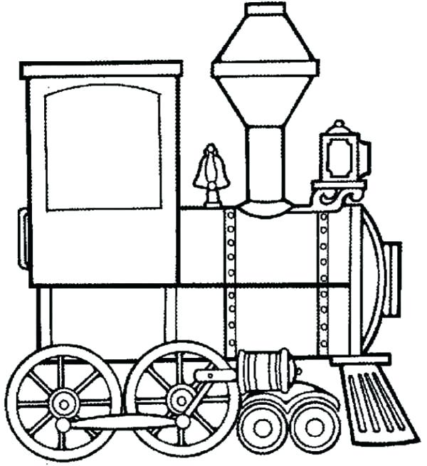 600x655 Train Engine Coloring Page Steam Train Locomotive Coloring Page