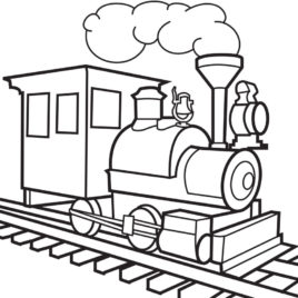 268x268 Trains To Colour In Colouring Pages Kids Coloring Pages 1