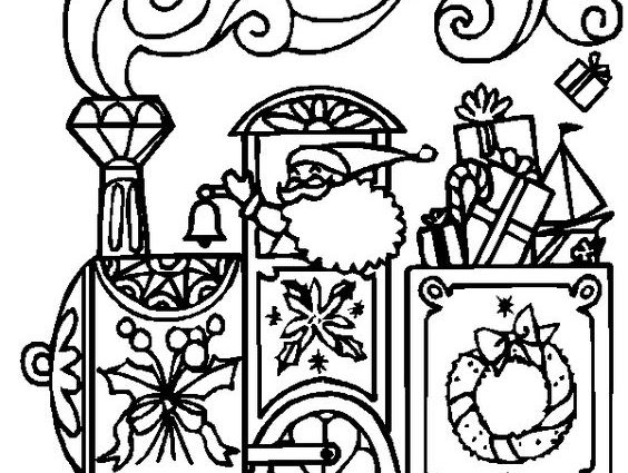 564x425 Christmas Train Coloring Pages Polar Express Coloring Pages Best