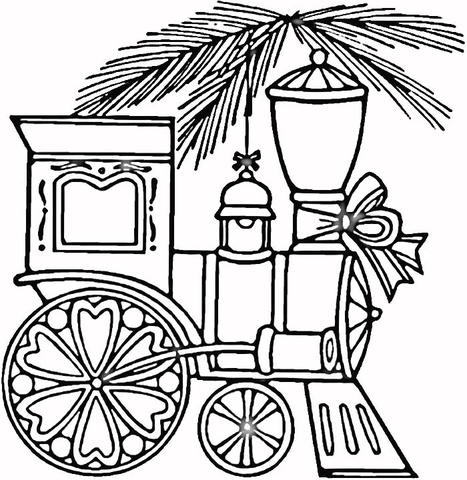 467x480 Christmas Train Coloring Page Free Printable Coloring Pages