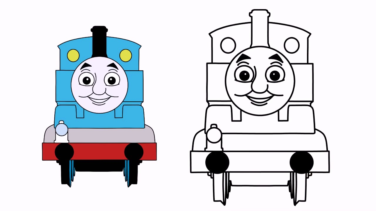 1280x720 How To Draw Thomas From Thomas And Friends Step By Step Easy