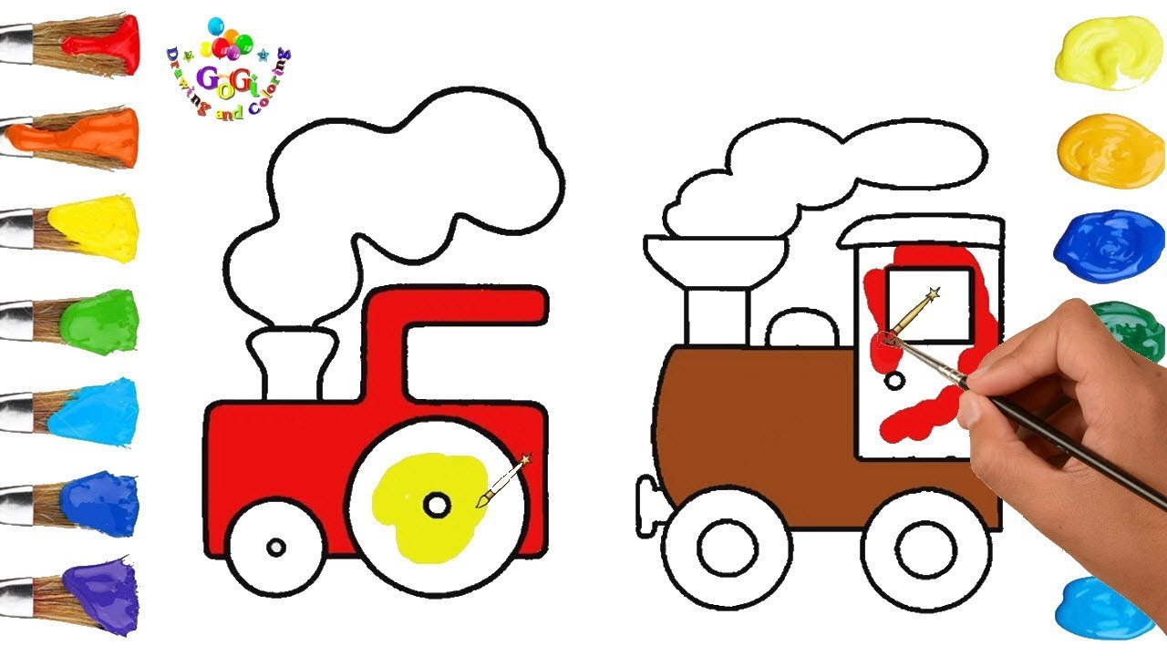 1280x720 Learn Colors With Train Drawing And Coloring Page How To Draw