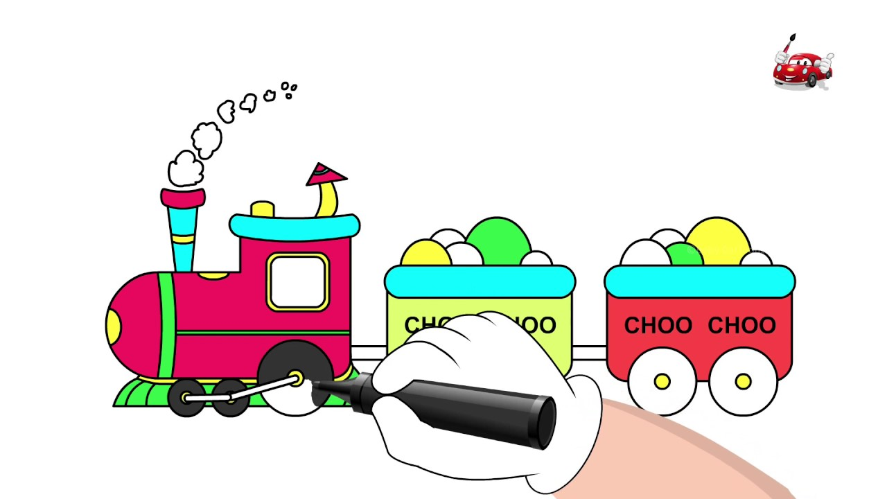 1280x720 Train Drawings For Children