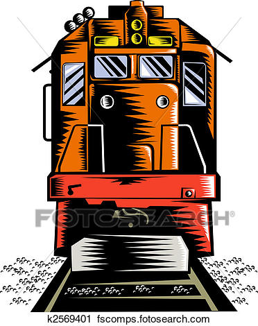 372x470 Clipart Of Diesel Train K2569401