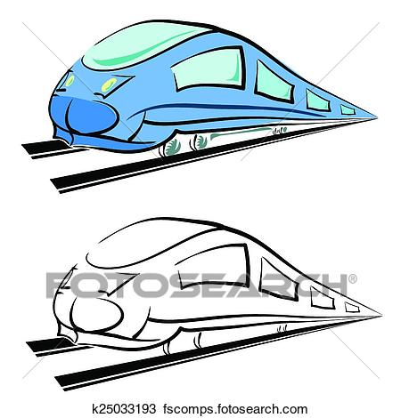 450x470 Clipart Of Modern Train Silhouette K25033193