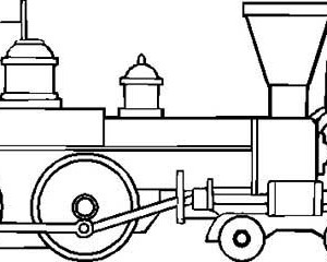 300x240 Drawing Of Steam Train Locomotive Coloring Page Color Luna