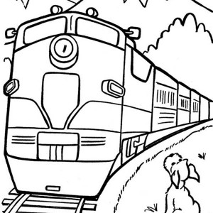 300x300 Drawing Of Steam Train Locomotive Coloring Page Drawing Of Steam