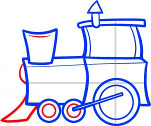302x252 How To Draw A Train For Kids, Step By Step, Trains, Transportation