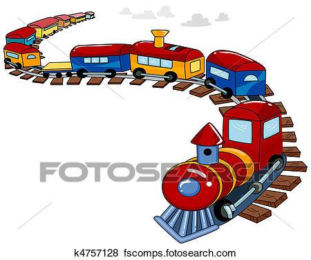 450x376 Stock Illustration Of Toy Train Background K4757128