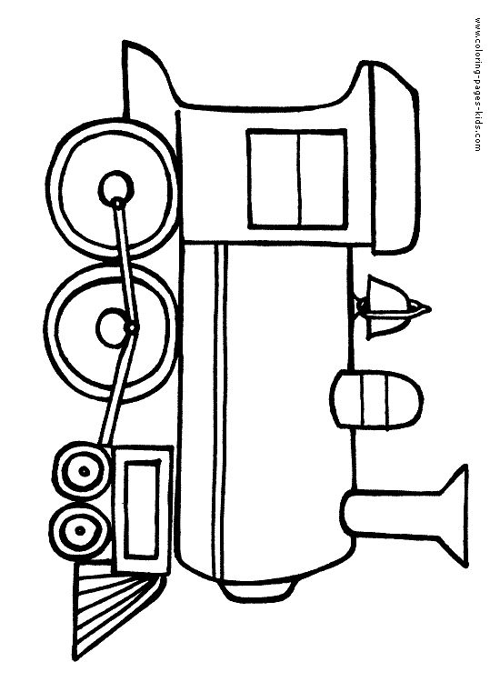 550x750 Printable Train Coloring Pages