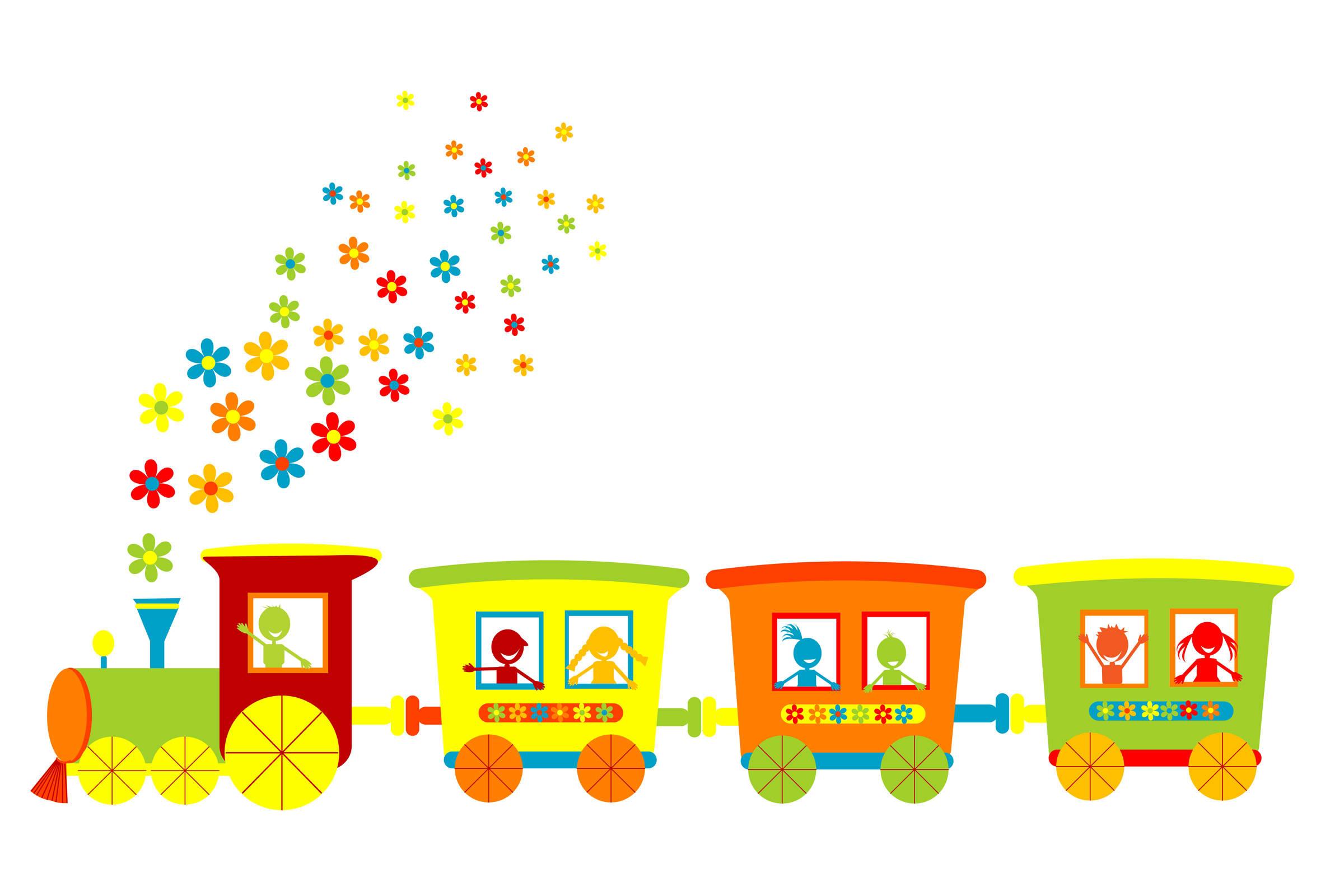 2400x1600 Kids Choo Choo Train Clipart