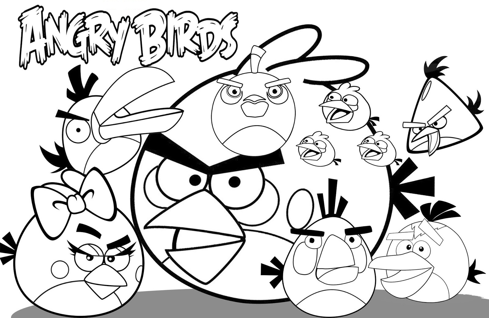 1600x1040 Angry Bird Coloring Pages For Children Barriee