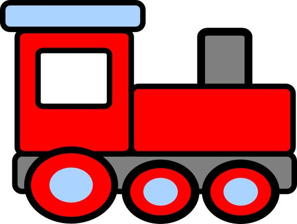 600x453 Engine Clipart Red Train