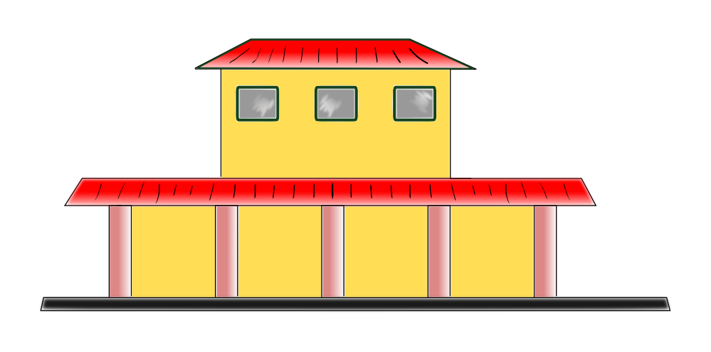 999x495 Railway Station Clipart Animated
