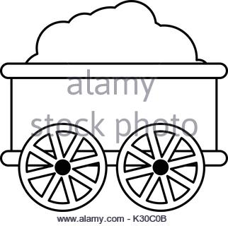 322x320 Oil Railway Tank Icon, Outline Style Stock Vector Art