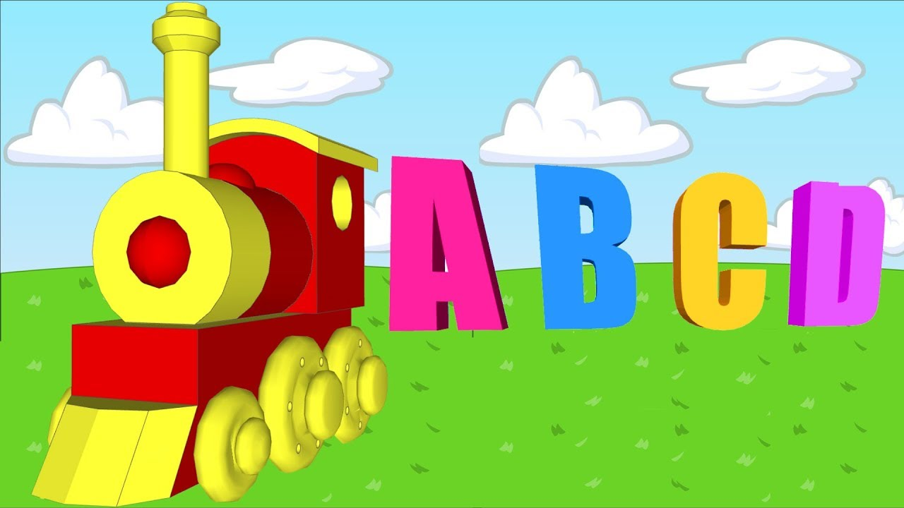 1280x720 Alphabet Train Toy 3d Cartoon Train Toy With Abcd Letters Song