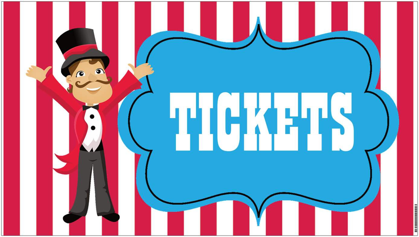 Circus Carnival Ticket Printable Invite Blank Carnival Tickets 30