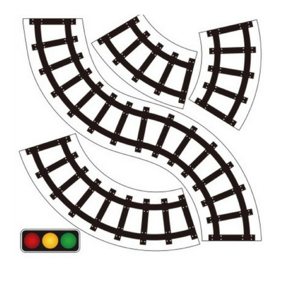 1080x1080 Pretend Play Road Train Tape Sticker For Toddler Activities