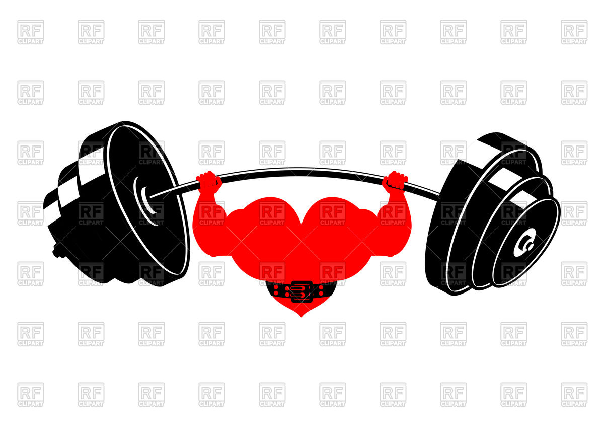 1200x872 Strong Heart And Barbell