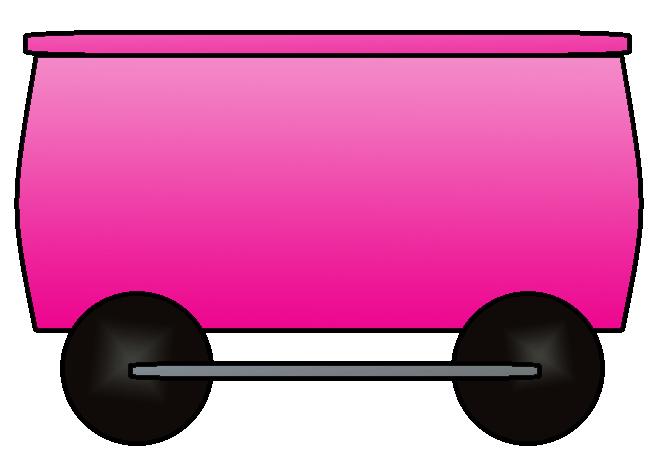 663x460 Pink Clipart Train