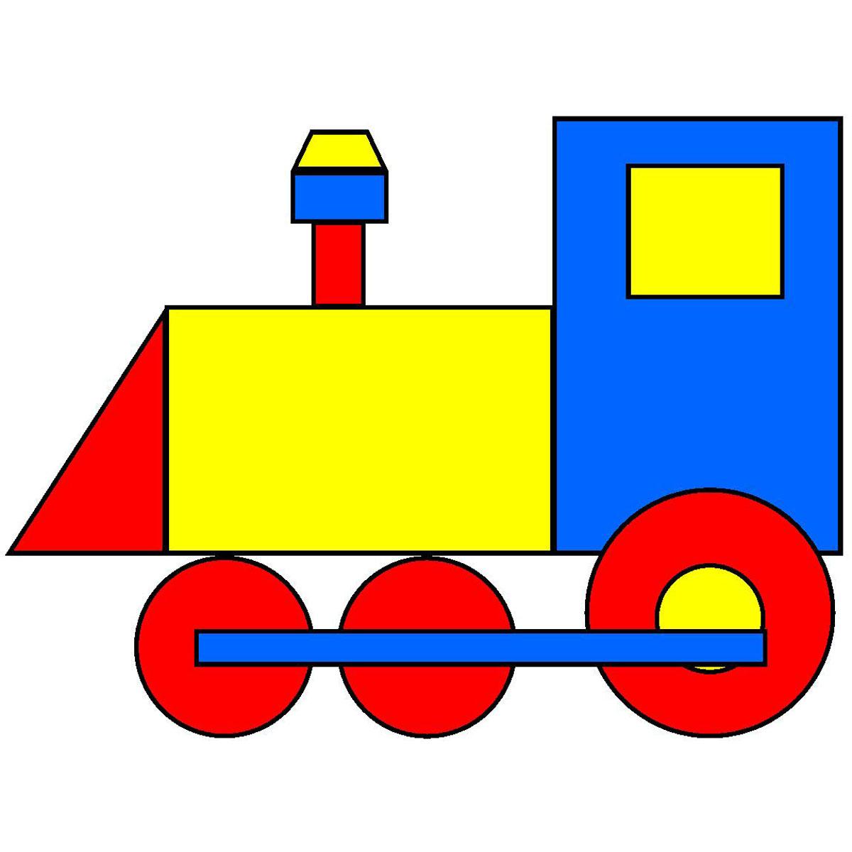 1200x1200 Train Clipart Simple