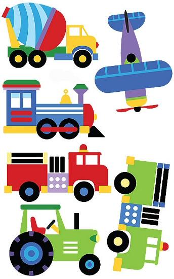 344x550 Trucks And Plane Clipart