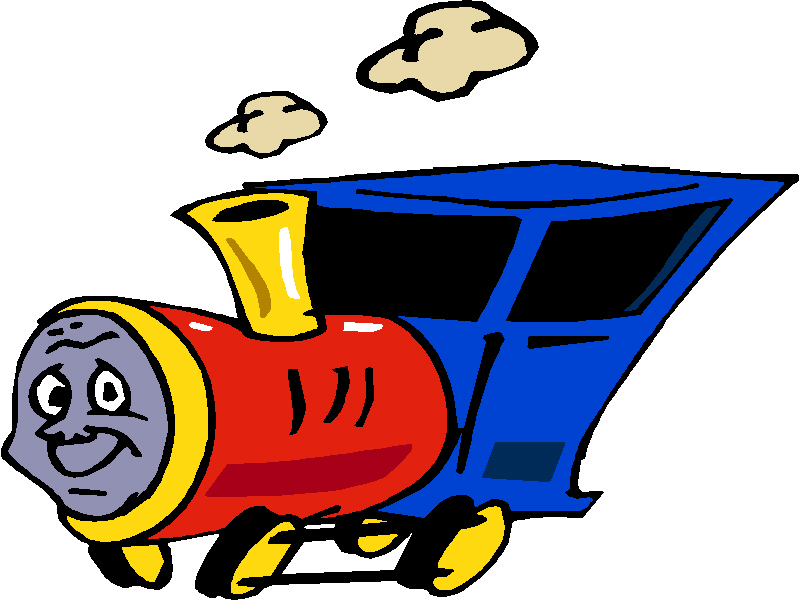 800x600 Happy Trains Clipart