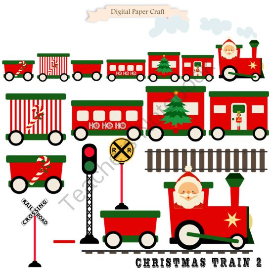 550x550 Railways Clipart Christmas Train