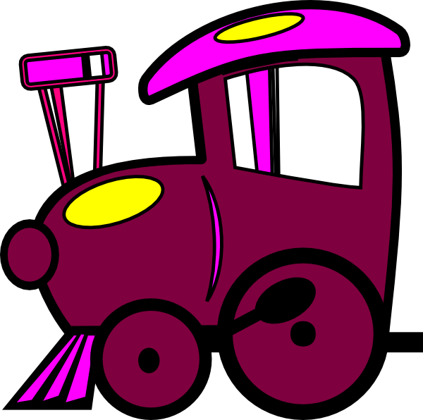 600x596 Train Clipart Purple