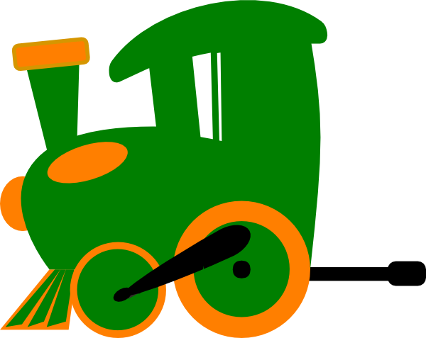 600x477 Engine Clipart Green Train