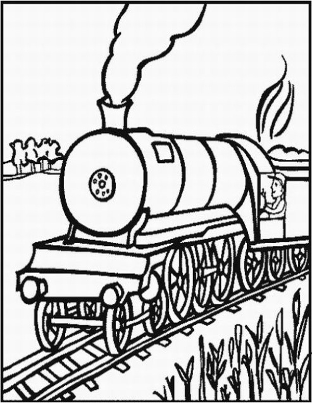 612x792 Free Printable Train Coloring Pages For Kids
