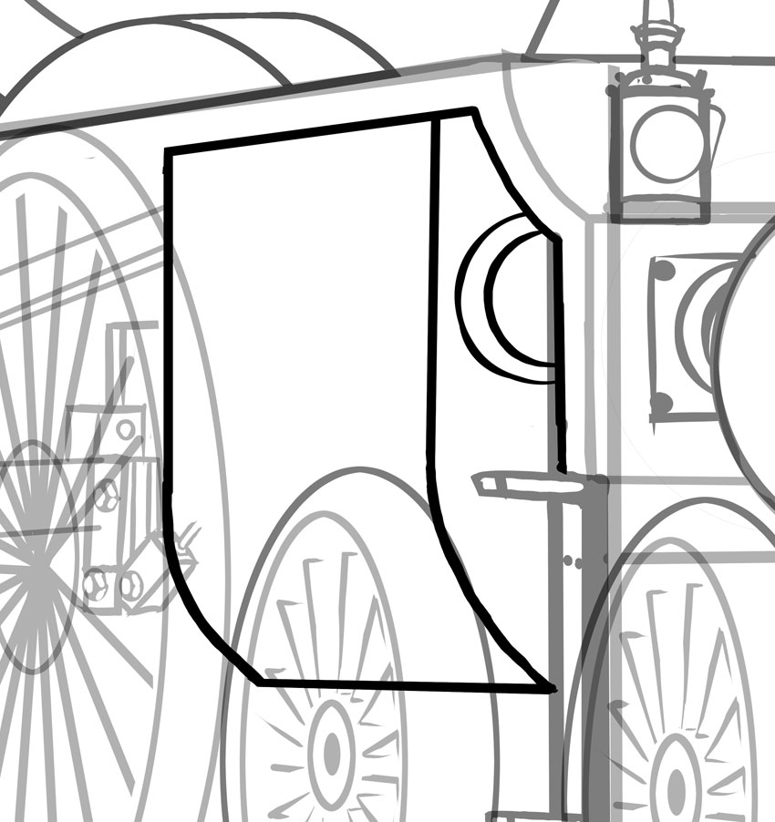 850x902 How To Draw A Classic Steam Locomotive From Scratch