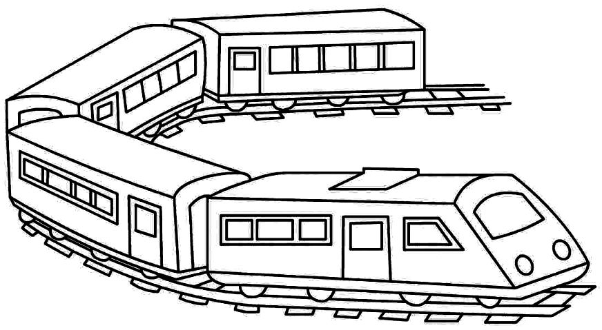 872x479 Train Coloring Page