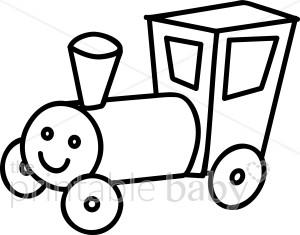 300x235 Train Outline Clipart
