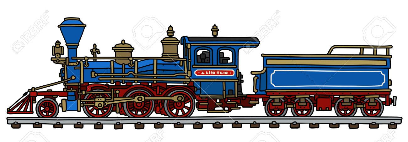 1300x454 Drawn Railroad Locomotive