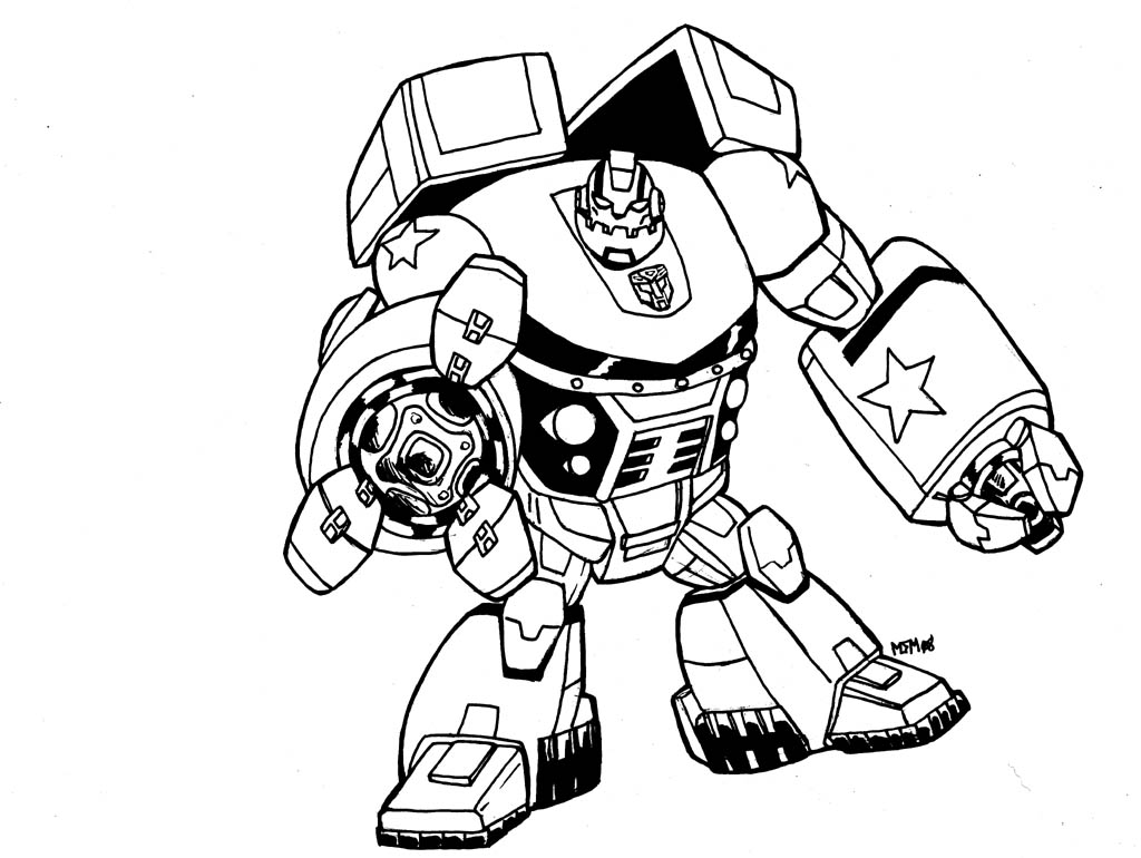 Transformers Coloring Pages Free Download Best Transformers - Ironhide-coloring-pages