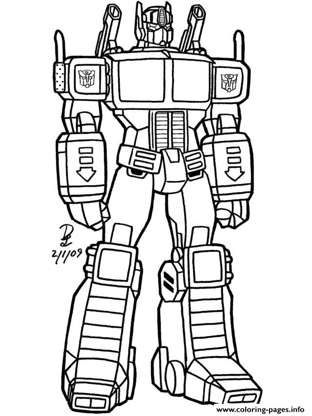 Transformers Coloring Pages Free Download Best