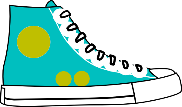 600x353 Hightop Shoe Clip Art